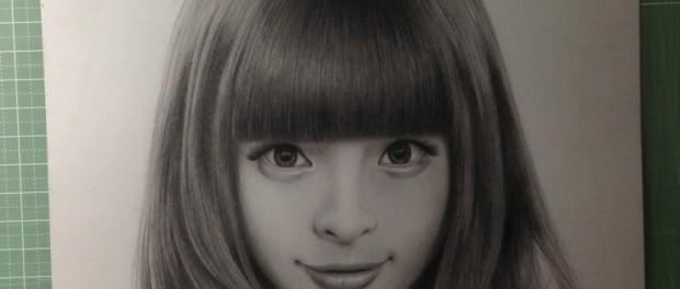 【画像】50時間かけて描かれた、きゃりーぱみゅぱみゅの似顔絵が凄い・・・うめえええ!!!天才か