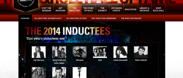 ロックの殿堂2014受賞者発表!ニルヴァーナ、KISS、ピーター・ガブリエル、ホール&オーツらロックの殿堂入り