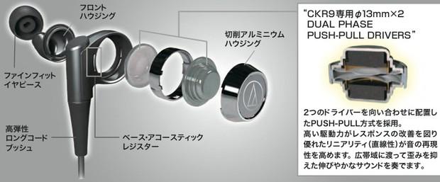 """オーディオテクニカ、""""世界初""""プッシュプル機構搭載イヤホン発売"""
