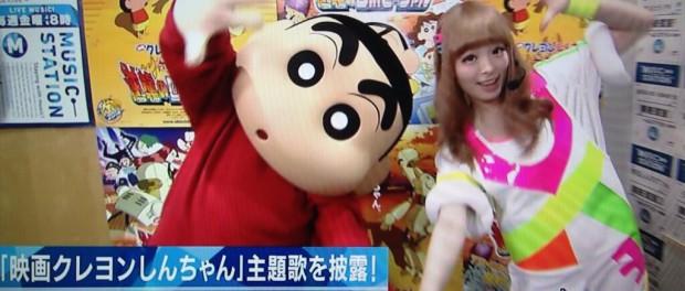 ミニステできゃりーぱみゅぱみゅとクレヨンしんちゃんがダンス!(画像あり)