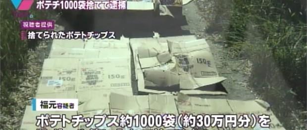 水樹奈々会いたさにカルビーポテトチップス1000袋・30万円分不法投棄したヲタ逮捕 → AKBのCD捨てても逮捕されないのはなんで?