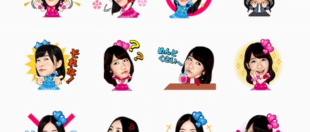 AKB48のLINEスタンプがキモすぎるwwwwww誰得だよwwwwwww(画像あり)