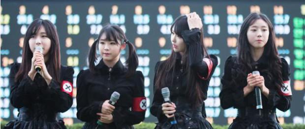 韓国のグループPritzが、ナチス・ドイツを連想させる衣装を着て炎上wwwwwww(画像あり)