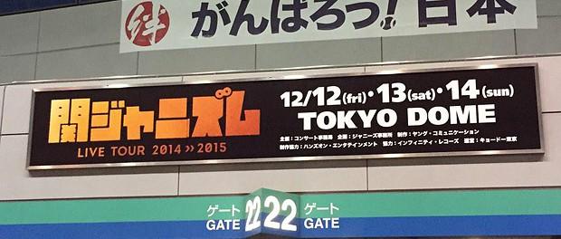 【ネタバレ】関ジャニ∞コンサートツアー「関ジャニズム LIVE TOUR 2014>>2015」東京ドーム アリーナ構成・座席表