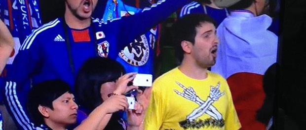 AFCアジアカップ2015「日本VSヨルダン」の観客にマキシマム ザ ホルモンのTシャツを着た外人さんが居た件wwwwwwwwww(画像あり)