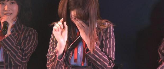 柏木由紀さん、AKBの公演中に泣くwwwww(画像あり) 涙は女の武器やで・・・