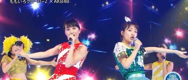 【悲報】AKB48高橋みなみ、ももクロ百田夏菜子に惨敗・・・ 2015FNS歌謡祭 THE LIVE『行くぜっ!怪盗少女』でコラボ(動画あり)
