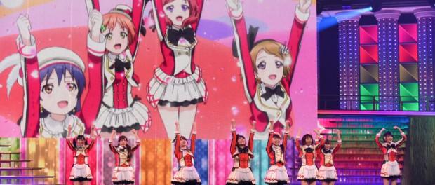 μ's、紅白で大画面にアニメ映像を流す模様wwww(画像あり)