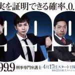 松潤主演ドラマ「99.9」の初回視聴率が15%越えで今期1位獲得wwwww 完全に嵐>>>福山が証明されてしまったわけだが