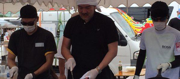 SMAP・中居正広、3度目の熊本訪問 今度は香取慎吾と一緒に炊き出し 中居マジすげー