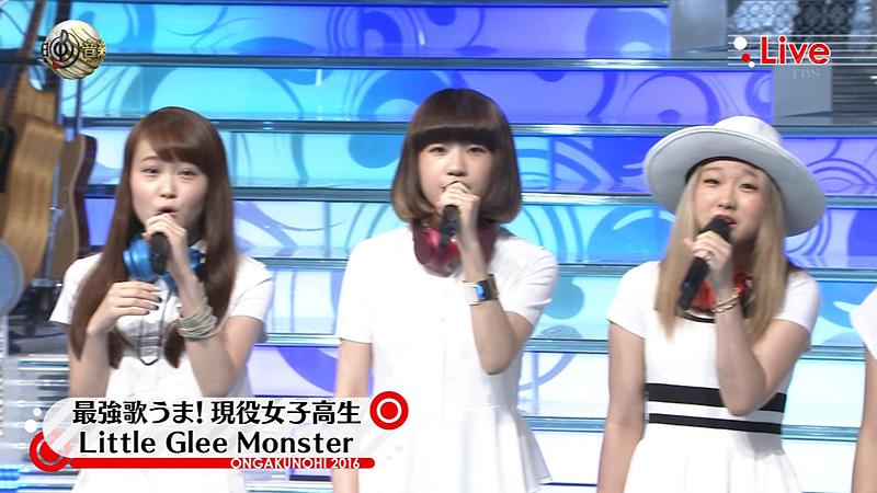 音楽の日2016 little glee monster ソニー損保 03