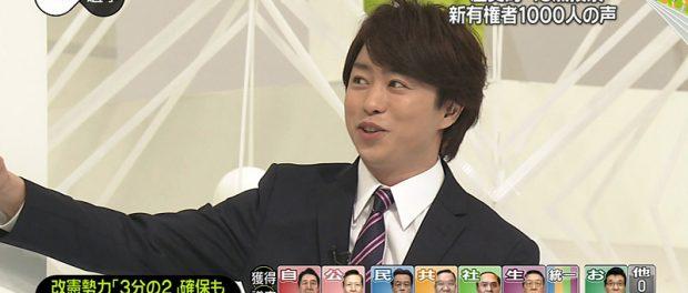 「総理大臣になってほしい人」第8位に嵐・櫻井翔
