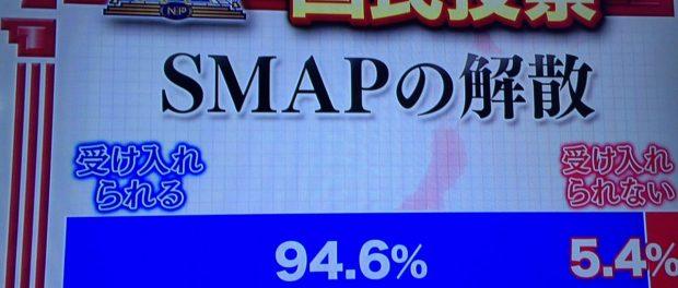 SMAP解散の是非を問う国民アンケートの結果wwwwwwwwwww