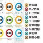 【エンタメ画像】EXILE事務所LDHのロゴが地下鉄の路線アイコンのパクリな件★★★★★★★★★★