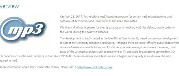 MP3の特許権が消滅