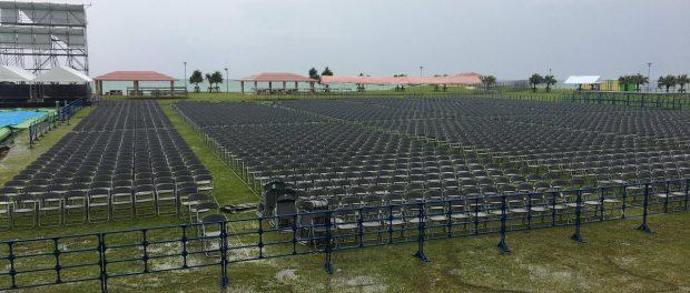 どうすんだこれ・・・ 無駄になったAKB総選挙会場のステージセットがこちらになります