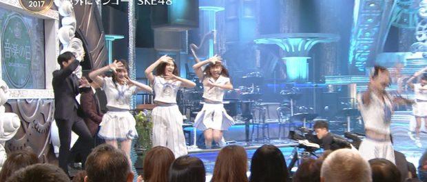 【音楽の日2017】SKE48が「意外にマンゴー」歌ってるとき安住アナがスプラッシュしててワロタwwwwwww(動画あり)