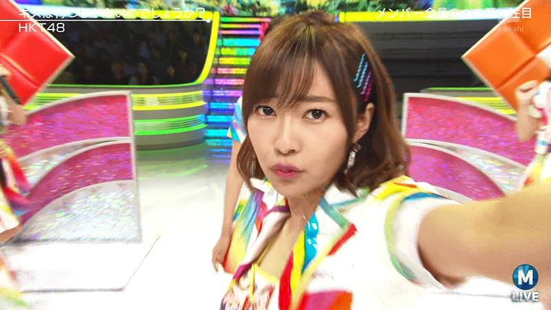 Mステ HKT48 キス顔