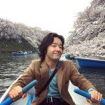 トライセラ和田、上野樹里と桜満開の千鳥ヶ淵でデート 写真に反響!