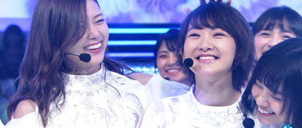 生駒里奈、乃木坂46卒業前最後のMステは笑顔で締め!白石麻衣と背中合わせ演出からの笑顔で頭ポンポン最高だったな(動画あり)