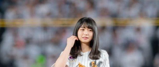 欅坂46長濱ねるの始球式の写真wwwwwwww
