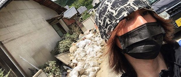 SUGIZO(49)さん、西日本豪雨被災地にボランティアにいく 過酷な現状と人手不足訴え「ボランティア参加して」