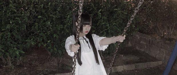 17歳アイドルさん、夜の公園で写真を撮るも心霊写真になってしまう