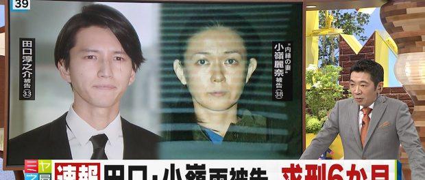 【速報】田口淳之介&小嶺麗奈、求刑6ヶ月wwwwwww