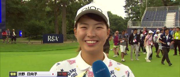 ゴルフの渋野日向子が西野七瀬似の美女ゴルファーと紹介されてたけど